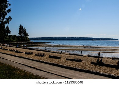 Afternoon view of Third Beach in Stanley Park, Vancouver, BC, Canada