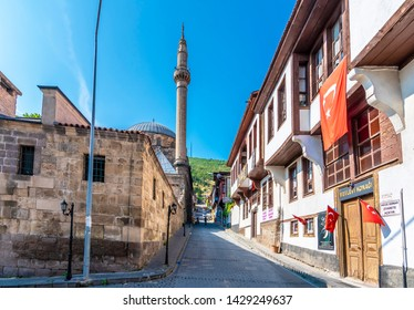 Afyon, Turkey - June 16, 2019 :  Mevlevi  mosque and mevlevihane museum view in Afyonkarahisar. Afyon is located center of Anatolia.