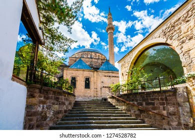 Afyon, Turkey - October 08, 2016 :  Old mosque view in Afyonkarahisar. Afyon is located center of Anatolia.