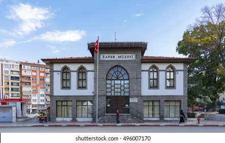 Afyon, Turkey - October 08, 2016 : Afyonkarahisar Victory Museum view. Afyon is located center of Anatolia.