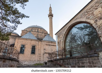 AFYONKARAHISAR,TURKEY,FEBRUARY 5,2019: Mevlevi mosque view in Afyonkarahisar. Mosque is one of the most important holly places after Konya. Afyonkarahisar is a city in western Turkey.