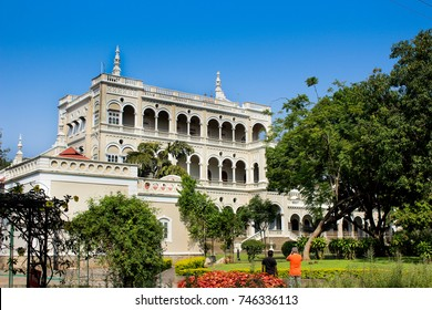 Aga Khan Palace in bright sunny day. This is an heritage palace in the Pune City of India built 1892