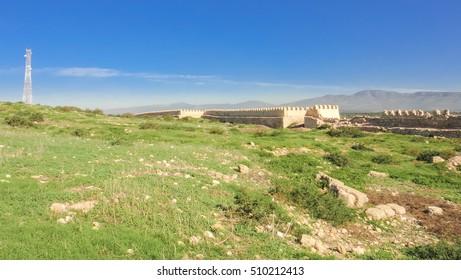 agadir arabian fortress (kasbah) in morocco. northern africa