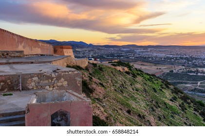 Agadir Fortress, Kasbah or Agadir Oufella at aunrise. Morocco