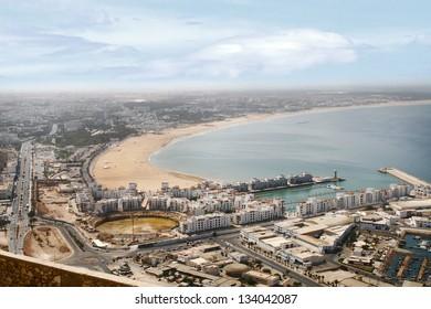 Agadir panorama, Morocco