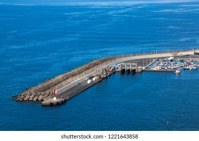Agaete pier on the island of Gran Canaria.