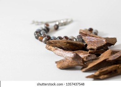 Agar wood, incense Chips with rosary, it's name in Arabic Oud Wood used to incense Cloths, furniture and places for occasions