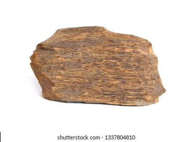 Agarwood, also called aloeswood oudh, isolated on white background.