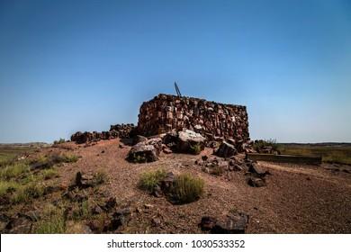 Agate House Ruin at Petrified Forest National Park near Holbrook Arizona USA