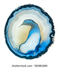 Agate isolated on white background