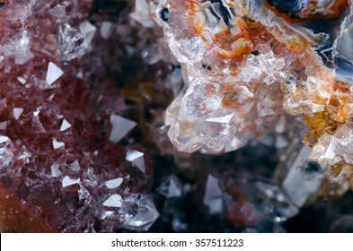 Agate mineral   close up