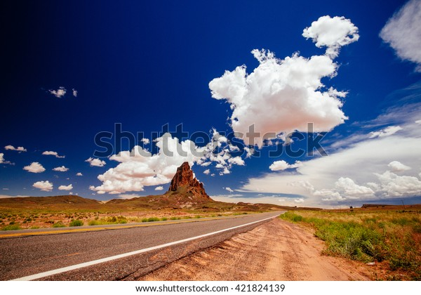 Agathla Peak Peak South Monument Valley Stock Photo (Edit ...