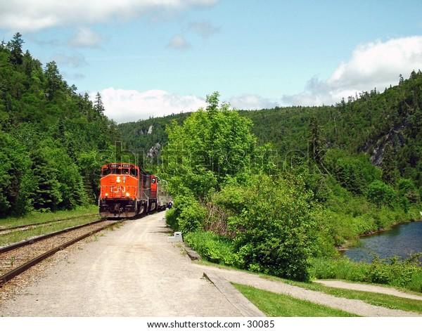 Agawa Canyon Train n Canada.