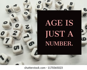 Age Just Number Quote Stock Photo Edit Now 1170365008 Shutterstock