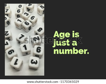 Age Just Number Quote Stock Photo Edit Now 1170365029 Shutterstock