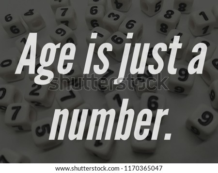 Age Just Number Quote Stock Photo Edit Now 1170365047 Shutterstock