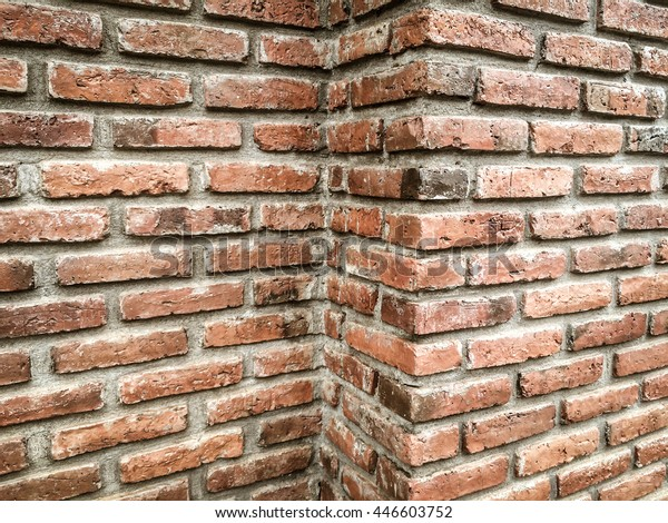 Aged Brick Wall Corner Background Textured Stock Photo Edit Now
