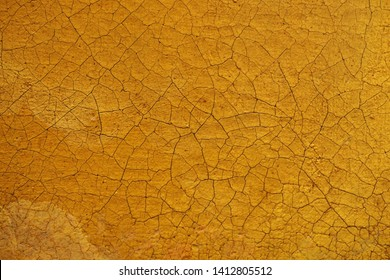 Aged and cracked oil painting background and texture