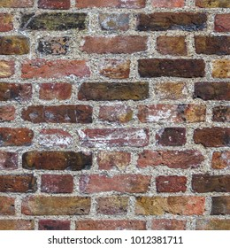 Aged dark red brick wall seamless 2k texture closeup