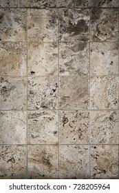 Aged dolomite limestone blocks texture