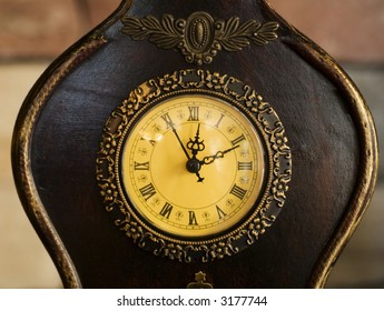 Aged Old Fashioned Clock