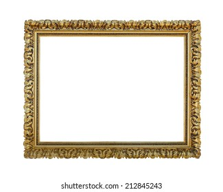 Aged old frame isolated with clipping path included