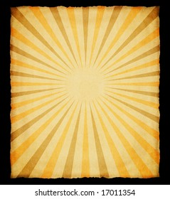 Aged paper with sunburst.