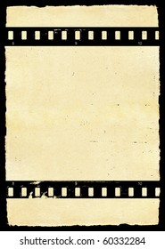 Aged paper texture with film strip