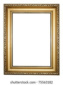 Aged, plated empty picture frame to put your own pictures in.
