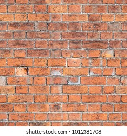 Aged red brick wall seamless 2k texture