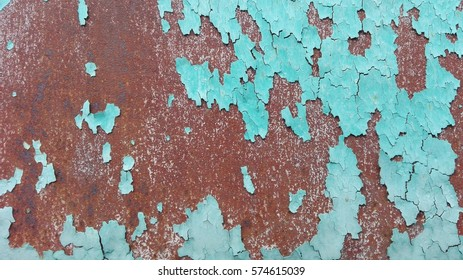 Aged rusty metal wall texture. Abstract vintage metal wall background.