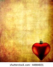 Aged template: xmas heart
