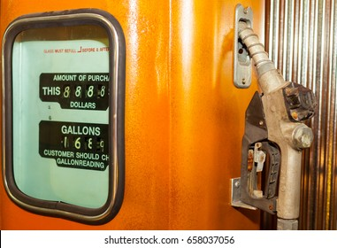 aged and  vintage  gas pumps