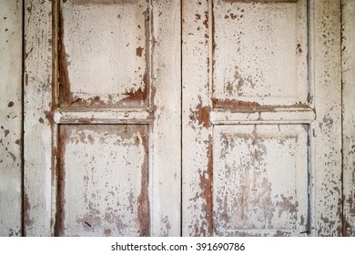 Aged weathered wooden window