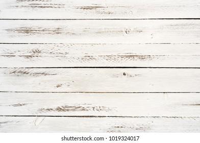aged white wood horizontal slats background