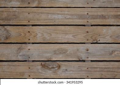 Aged wooden pallet background or backdrop