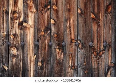aged wooden slats door background