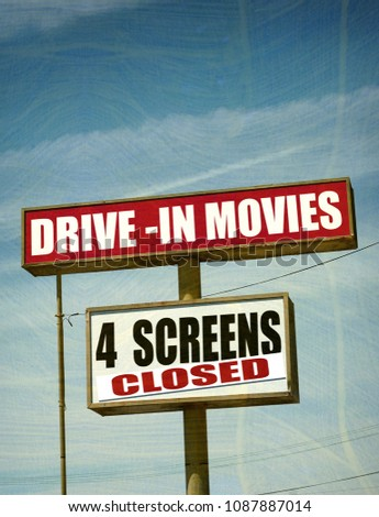 Aged Worn Vintage Drive Movie Theater Stock Photo Edit Now