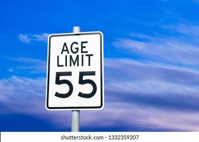 Ageism discrimination sign concept