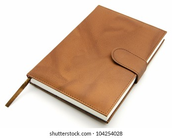 Agenda brown leather closed