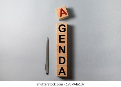 Agenda Meeting Appointment Activity Information Concept, agenda word