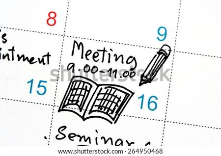 Agenda Time Planner Calendar Stock Photo Edit Now 264950468