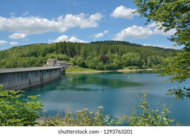 at Aggertalsperre Reservoir in Bergisches Land near Gummersbach,North Rhine westphalia,Germany