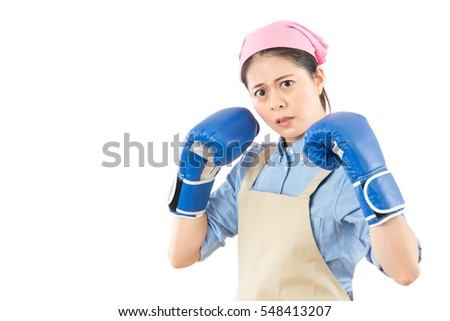 Aggressive Angry Mixed Race Chinese Asian Stock Photo (Edit