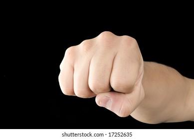 Aggressive hand hit color