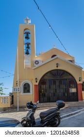 Agia Irini Church in Agios Nikolaos on the island of Crete, Greece