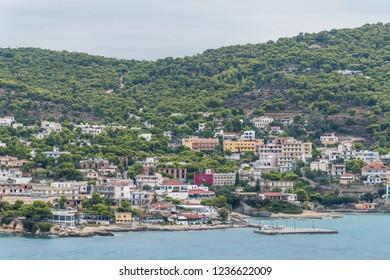 Agia Marina city view, Aegina Harbour, Greece
