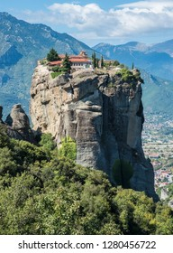 Agia Triada or The Holy Trinity Monastery in Meteora, Greece was founded in the 15th century.