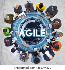 Agile Fast Quick Nimble Technology Agility Concept