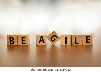 Agile Word Logo Agile Letters Overlay. Agile metodologhy with letters